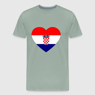 heart croatia flag worldchampionship 2018 - Men's Premium T-Shirt