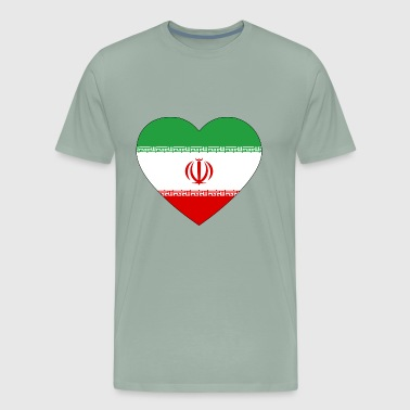 heart iran flag worldchampionship 2018 - Men's Premium T-Shirt