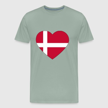 heart denmark flag worldchampionship 2018 - Men's Premium T-Shirt