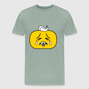 child baby pregnant pacifier face head sad cry how - Men's Premium T-Shirt