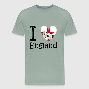I love England and soccer - Men's Premium T-Shirt