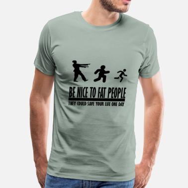 Pornhub be nice to fat people zombie - Men's Premium T-Shirt