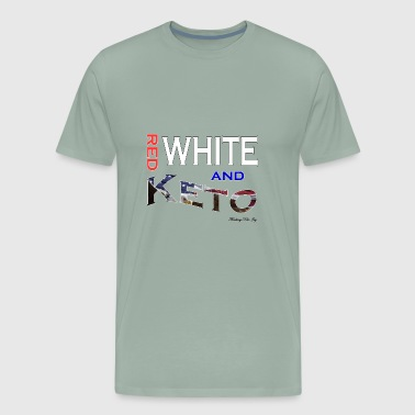 Red White and Keto Tshirt - Men's Premium T-Shirt