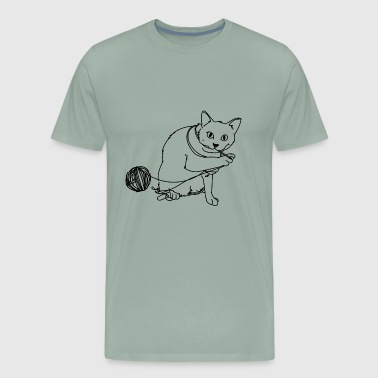 cat playing - Men's Premium T-Shirt