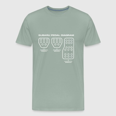 Racing Subaru Pedal Diagram - Men's Premium T-Shirt