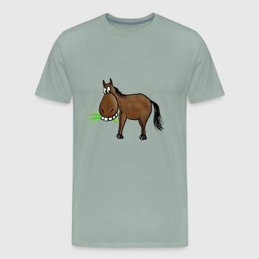 Funny Horse Cartoon funny Horse - Men's Premium T-Shirt
