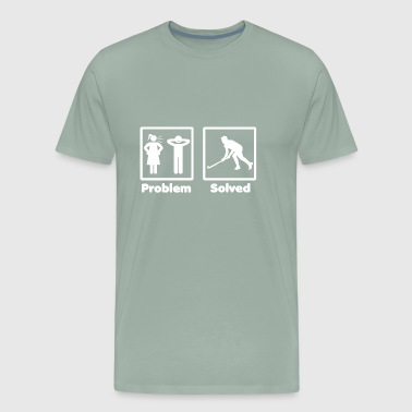 problem solved hockey eishockey 2 - Men's Premium T-Shirt