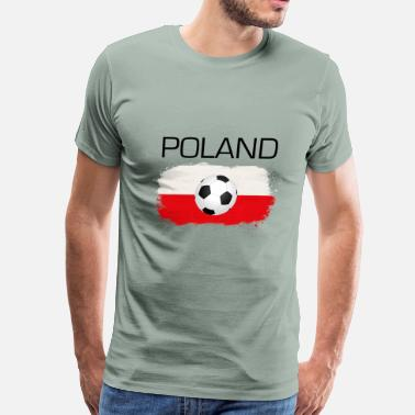 Polska Football Soccer Poland Polska Fan Flag Gift - Men's Premium T-Shirt