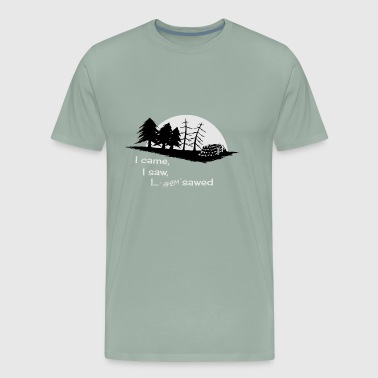 Sawmill Sawmill wood forest lumberjack forester fun gift - Men's Premium T-Shirt