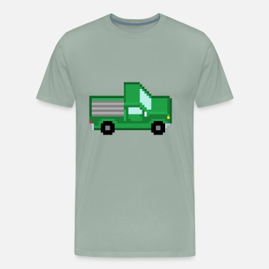 Trucks Pickup Pixel Pickup - Men's Premium T-Shirt