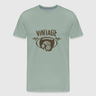 Vintage sports American Indian football - Men's Premium T-Shirt
