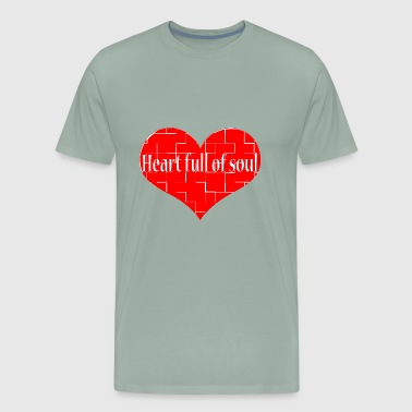 Heart Full of Soul Oldies Popular Song Titles - Men's Premium T-Shirt