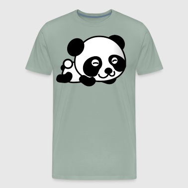 panda vector comic kids children - Men's Premium T-Shirt