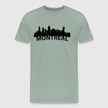 Arc Skyline Of Montreal Quebec Canada - Men's Premium T-Shirt