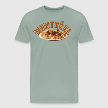 Love Montreal, Love Poutine - Quebec Foodie Travel - Men's Premium T-Shirt