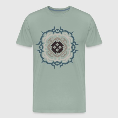 flourish Mandala geometry Holy mandala mantra - Men's Premium T-Shirt