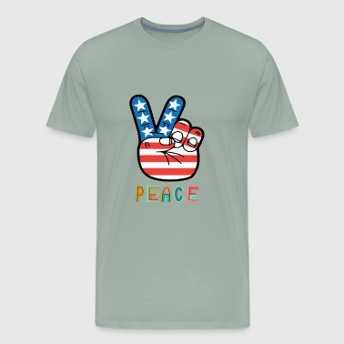 Peace America - Men's Premium T-Shirt