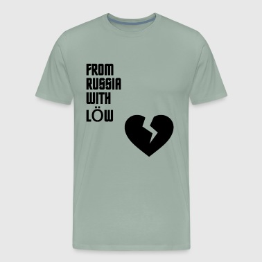 From Russia With Low black Gift Present Soccer - Men's Premium T-Shirt