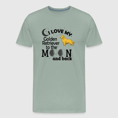 I love my Golden retriever - Men's Premium T-Shirt