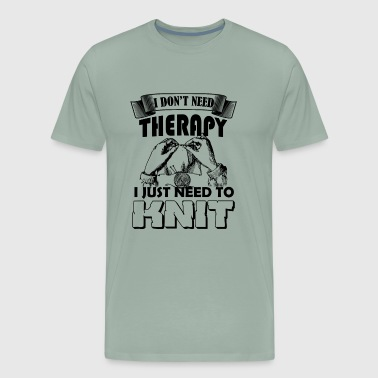 Knitting Therapy Shirt - Men's Premium T-Shirt