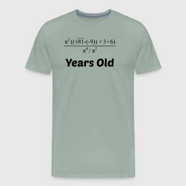 Algebra Equation 60th Birthday - Men's Premium T-Shirt
