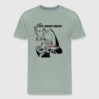 Female Engineer STEM Frackin' Amazing Rosie shirt - Men's Premium T-Shirt