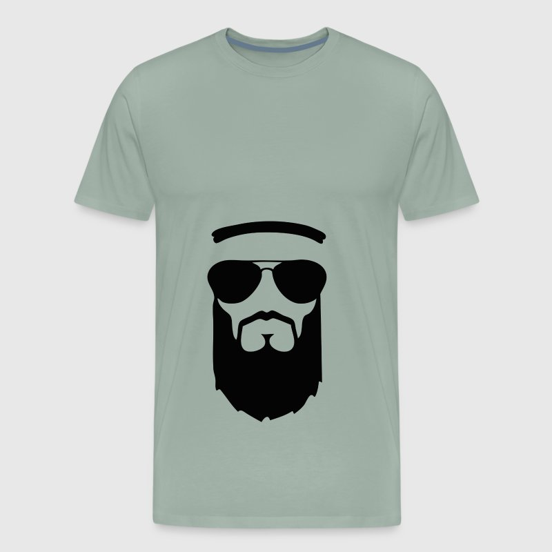 beard muslim face head sunglasses - Men's Premium T-Shirt