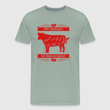 meatlovers BBQ - Gluten allergy parody - Men's Premium T-Shirt