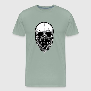 Skull with Mask - Men's Premium T-Shirt