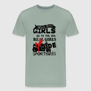 Sportbikes Lovers Shirt Real Girls Ride Shirt - Men's Premium T-Shirt
