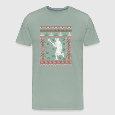 Lacrosse Ugly Christmas Sweater Funny Holiday T-Sh - Men's Premium T-Shirt