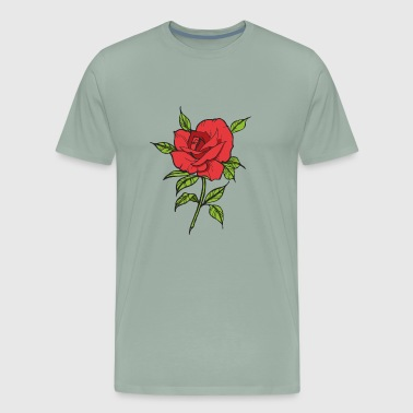 Red Rose Flower - Men's Premium T-Shirt