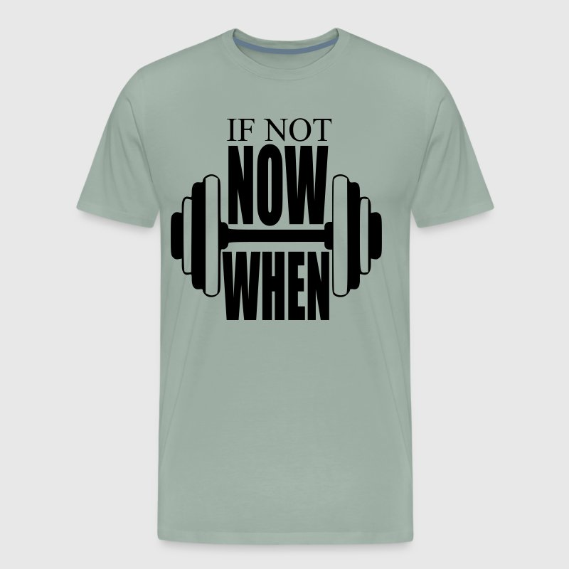 Fitness Gym Motto - Men's Premium T-Shirt