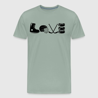 Hockey Mom Love Shirt - Men's Premium T-Shirt