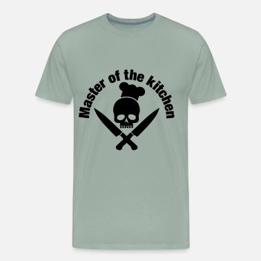 Skull And Chef Knives Master of the kitchen skull with chef's hat - Men's Premium T-Shirt