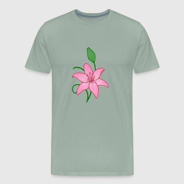 Flower in Pink - Men's Premium T-Shirt