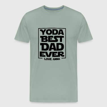 Yoda Best Dad Ever - Men's Premium T-Shirt