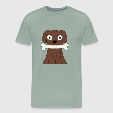 brown dog. - Men's Premium T-Shirt