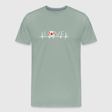 home roots queen love from heart Canada png - Men's Premium T-Shirt