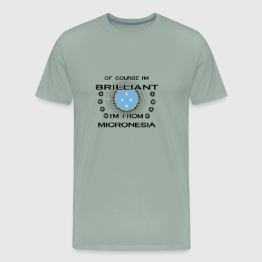 I AM GENIUS BRILLIANT CLEVER MICRONESIA - Men's Premium T-Shirt