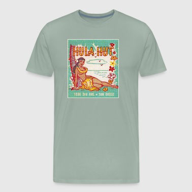 Lounge Hula Hut matchbook - Men's Premium T-Shirt