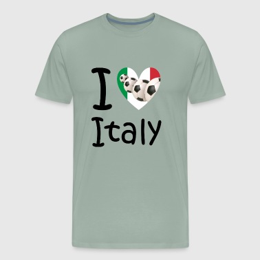I love Italy and soccer - Men's Premium T-Shirt