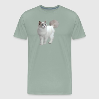 WHITE CAT WITH BLUE EYES - Men's Premium T-Shirt