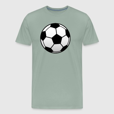BLACK AND WHITE SOCCER BALL - Men's Premium T-Shirt