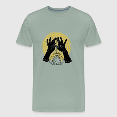 clock dark hand - Men's Premium T-Shirt