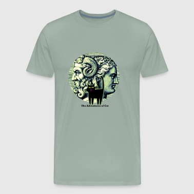 Janus Cat Observes Janus - Men's Premium T-Shirt