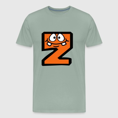 Z letter name write cartoon comic face funny alive - Men's Premium T-Shirt