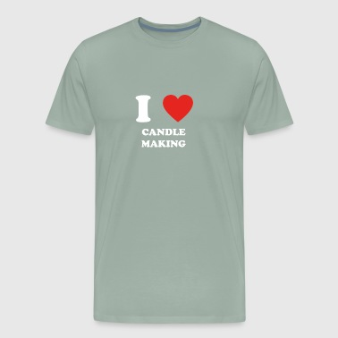 hobby gift birthday i love CANDLE MAKING - Men's Premium T-Shirt