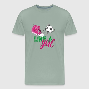 Kick Like A Girl - Men's Premium T-Shirt