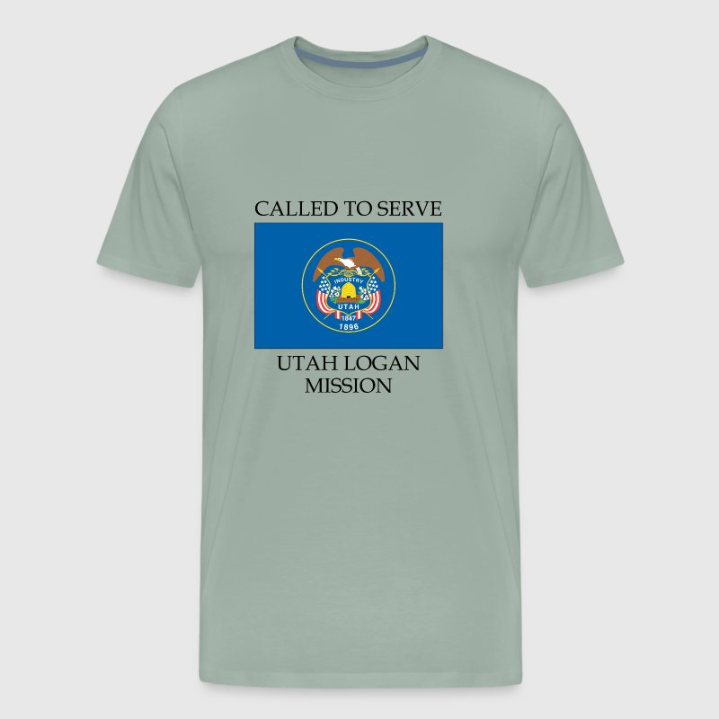 Utah Logan LDS Mission Called to Serve Flag - Men's Premium T-Shirt
